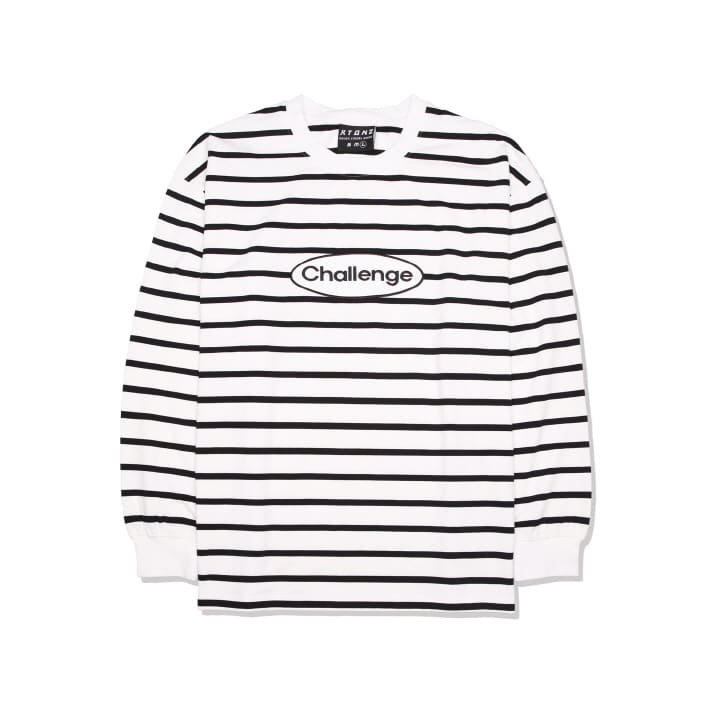 XTT014 ACTRO STRIPE LONG SLEEVE (IVORY)