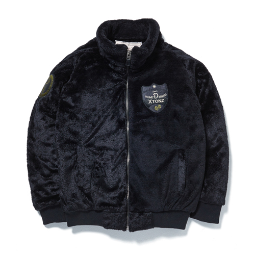[XTONZ] XJ2 PATCH FUR JACKET - (BLACK)
