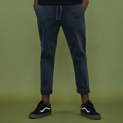 [XTONZ] XP4 Banding Cotton Pants - Dark Gray