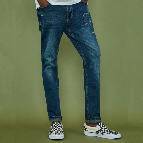 [XTONZ] XP9 Stitch Denim Pants - Blue