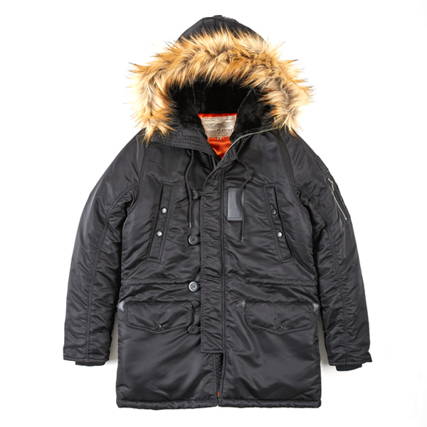 [XTONZ] XJ7 BASIC N-3B JACKET - (BLACK)