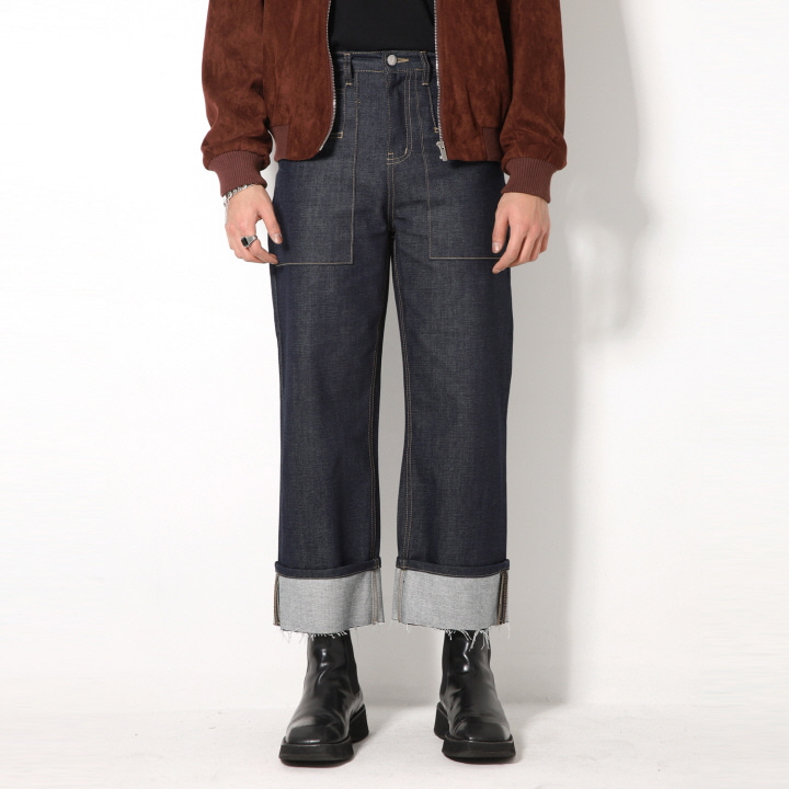 [블프] XP53 FATIGUE ROLL-UP DENIM PANTS (BLUE)