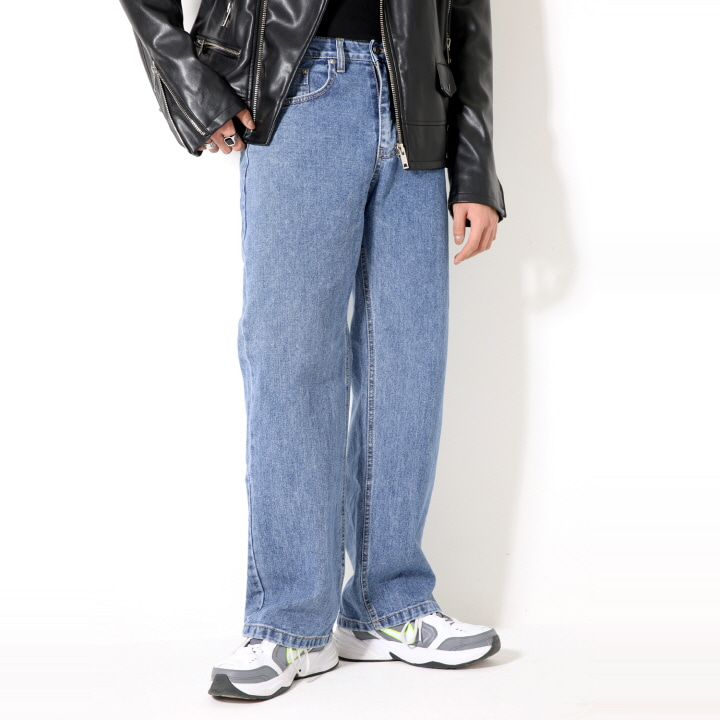 XP51 BIG WIDE DENIM PANTS (BLUE)