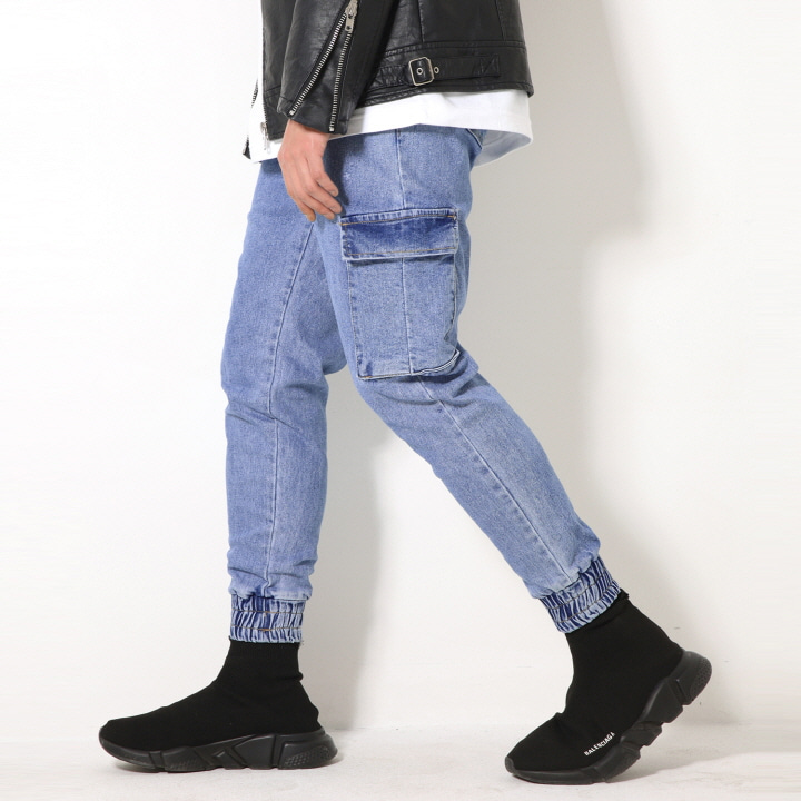 XP52 CARGO JOGGER DENIM PANTS (BLUE)