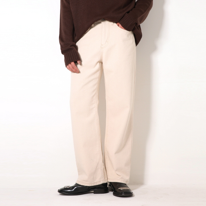 [블프] XP49 CREAM WIDE PANTS (CREAM)