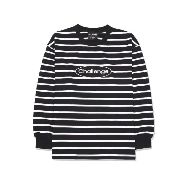XTT014 ACTRO STRIPE LONG SLEEVE (BLACK)