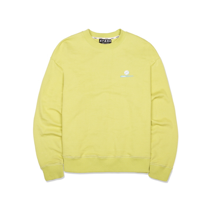 XTM011 OVERLAP LOGO MAN TO MAN (LIME)